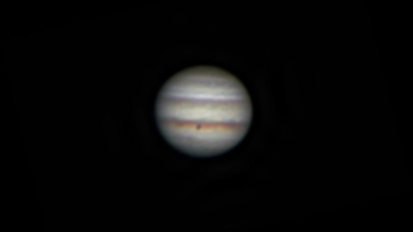 口径25㎝(White Dob)/F4.8/CANON EOS KISS X7i/30fps/35秒/ISO1600/154枚スタックした2018年04月19日01時59分54秒から撮影した木星の天体写真です。