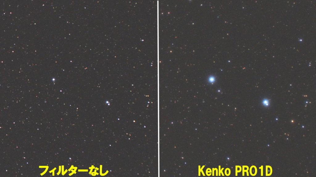 ソフトフィルターの拡大比較です。左がフィルターなしで右がKenko PRO1Dを取り付けています。