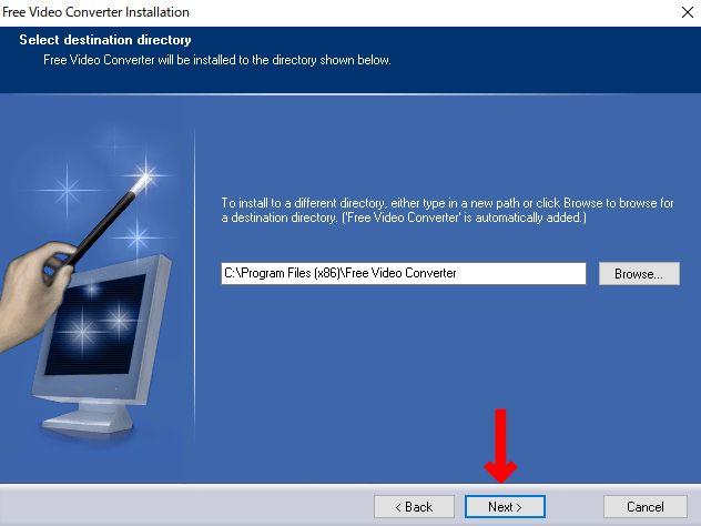インストール先の選択画面でそのまま「NEXT」をクリック。