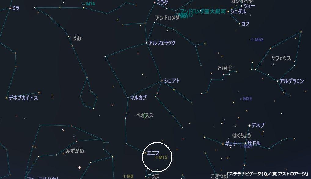 ペガスス座のメシエ天体はM15の球状星団です。